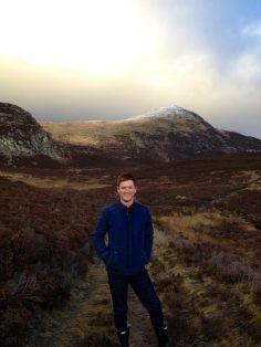 Climbing Ben Vrackie