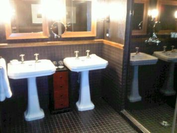 Twin Sinks and Monsoon Shower