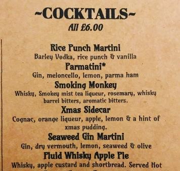 Fantastic Cocktail List