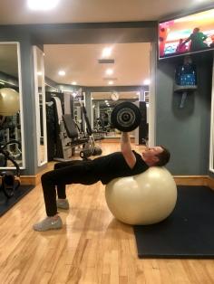 Chest Press on Balance Ball