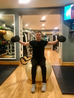 Shoulder Press on Stability Ball